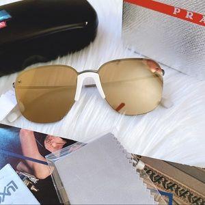 PRADA LINEA ROSSA 57mm Square Sunglasses - Unisex